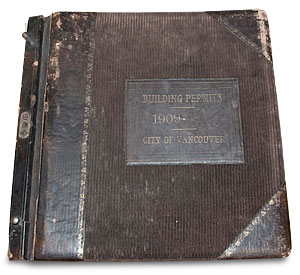 Image - Permit Register Book for 1909